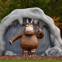 Oh Help! Oh No! It's a Gruffalo at Chessington World of Adventures Resort.