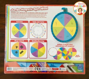 Engage your students with this fun jumbo magnetic spin wheel! There are so many easy ways to incorporate excitement and learning with this spinner!