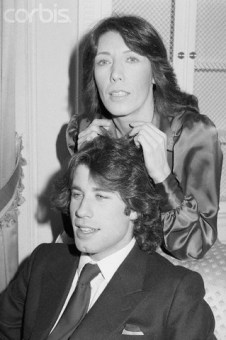 Lily Tomlin Touching John Travolta's Hair