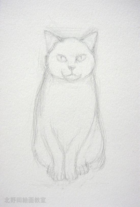 水彩色鉛筆描き方1