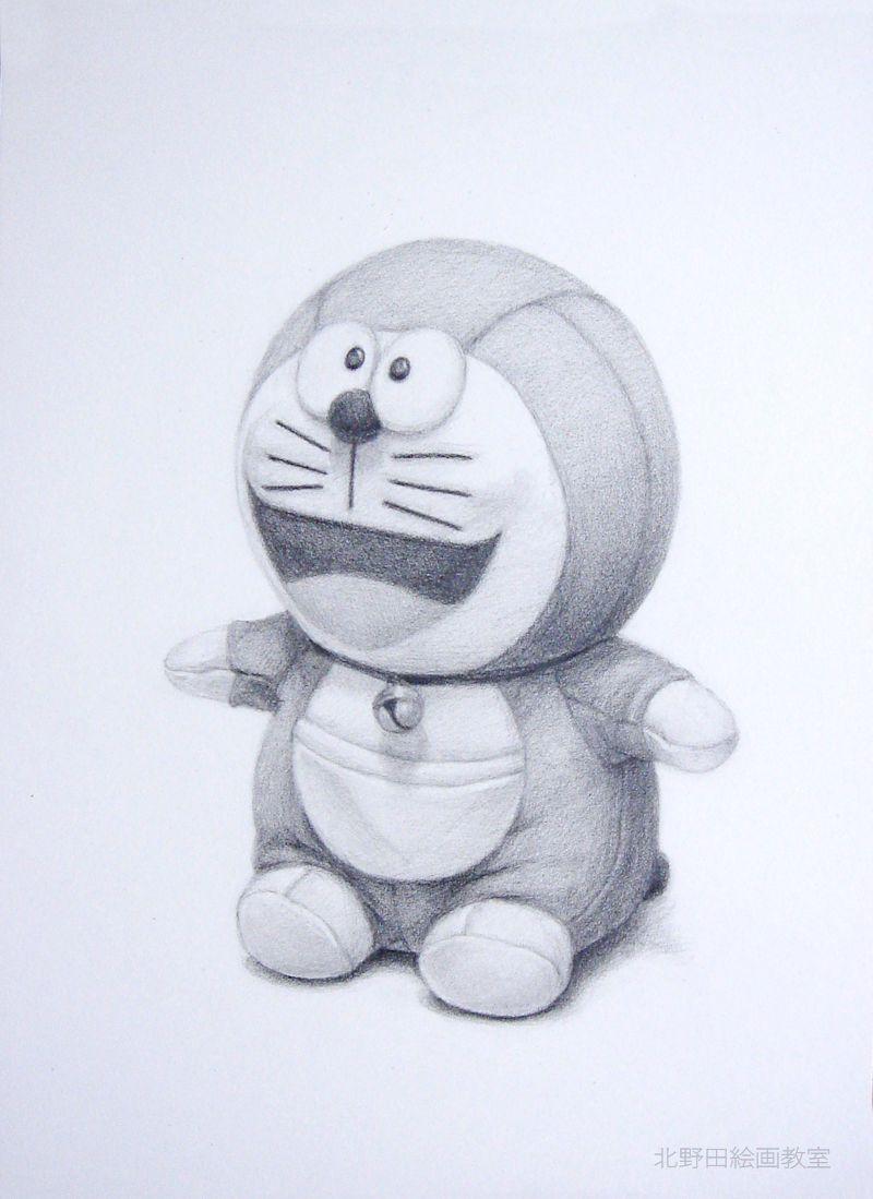 鉛筆デッサンの描き方(ドラえもんぬいぐるみ)5