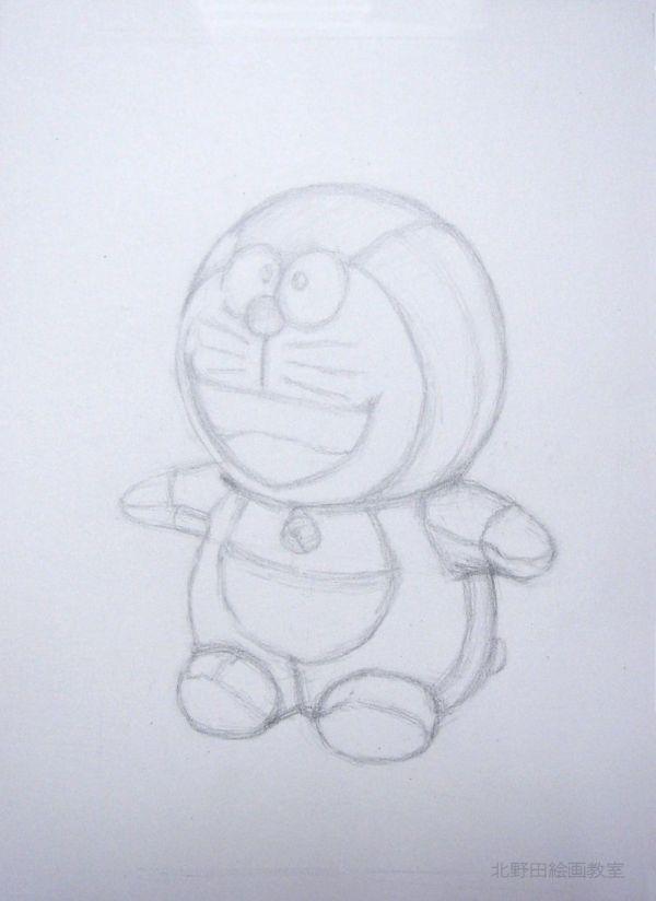 鉛筆デッサンの描き方(ドラえもんぬいぐるみ)2