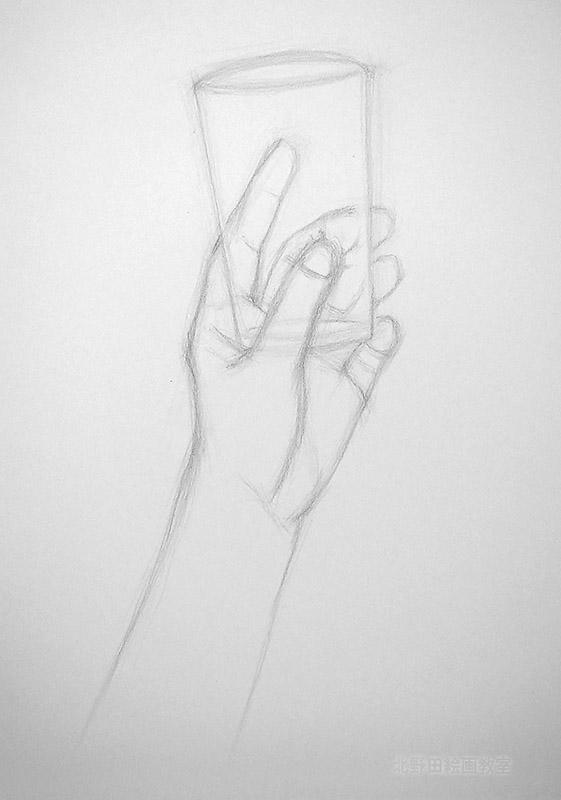 手のデッサン1小