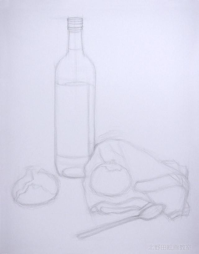 ワインボトルと玉ねぎ2