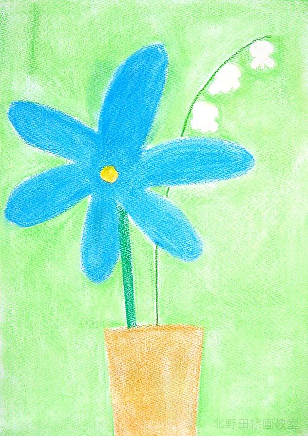 きょうかちゃん青い花とスズラン