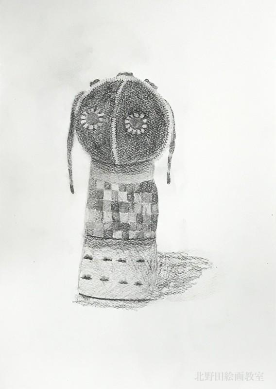 きょうかちゃん 鉛筆デッサン ンデベレ人形
