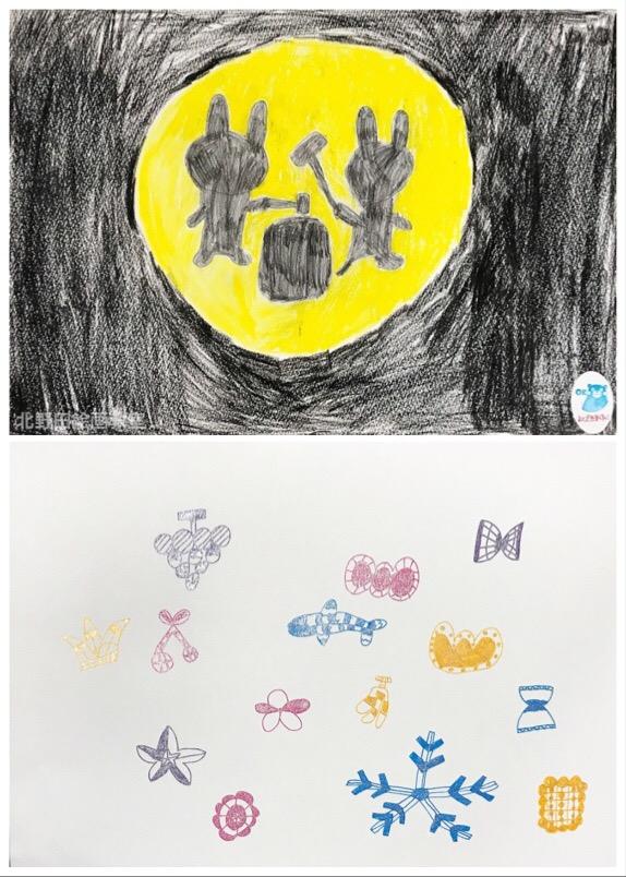 めいちゃん クーピーペンシル画、ペン画