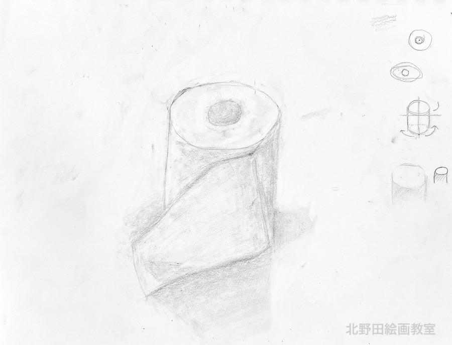 アンちゃん(小学5年生)鉛筆デッサン