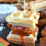 Buffalo Chicken and Waffle Sliders