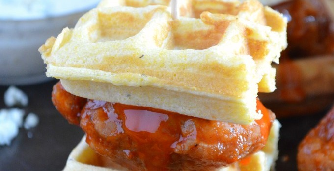 Ad: Buffalo Chicken and Waffle Sliders {Plus Tailgating Ideas, Recipes and Tips!}
