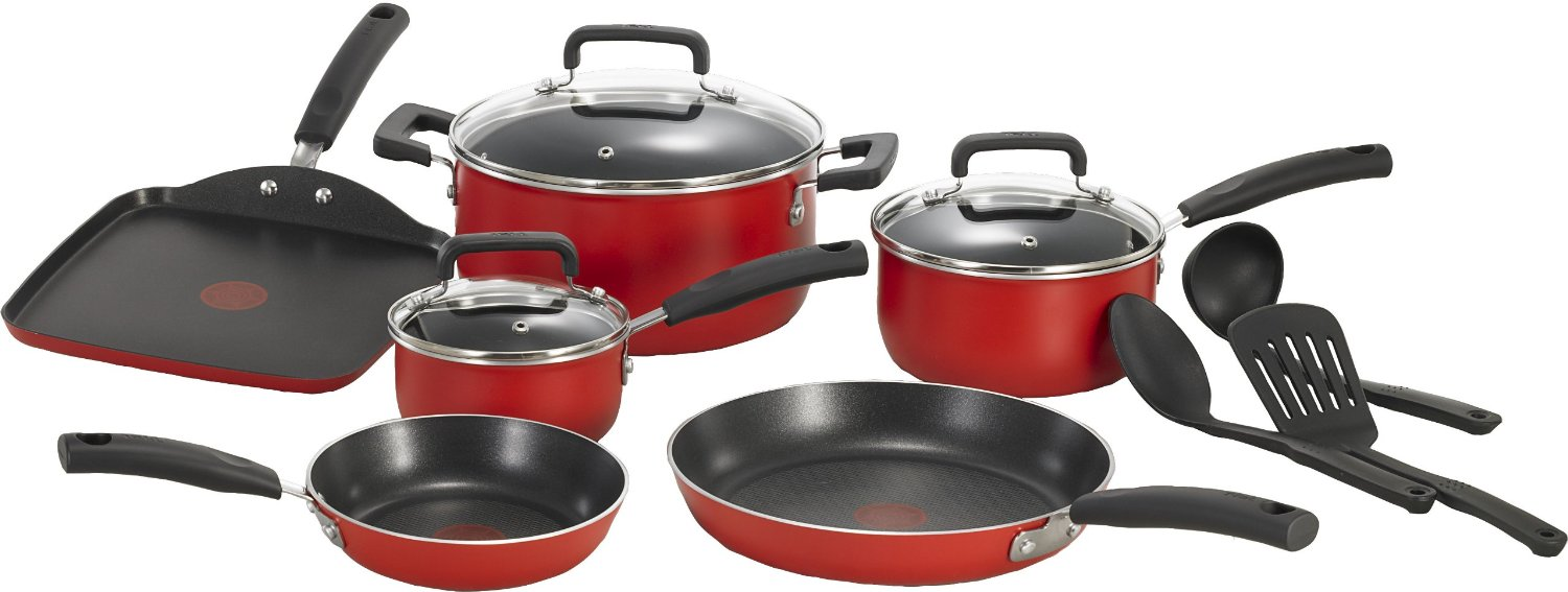 T-fal C112SC Signature Nonstick Expert Thermo-Spot Heat Indicator Cookware Set