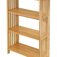 Winsome Wood Foldable 4-Tier Shelf, Natural