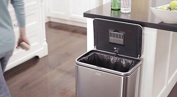 Simple human sensor trash can