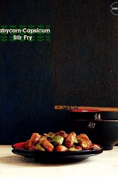 Baby corn-Capsicum Stir Fry