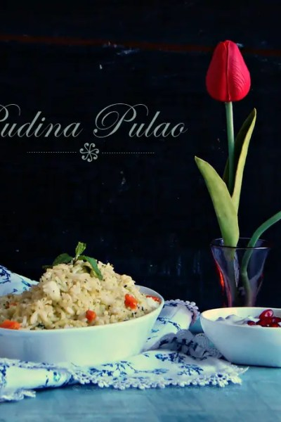 Pudina Pulao with Anardana Raita