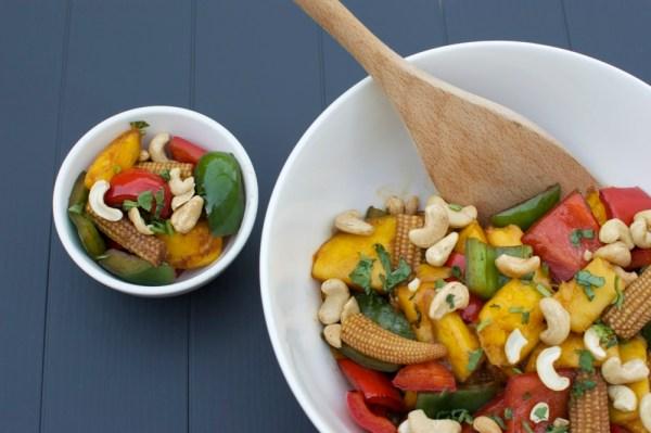 grilled vegetable stir-fry