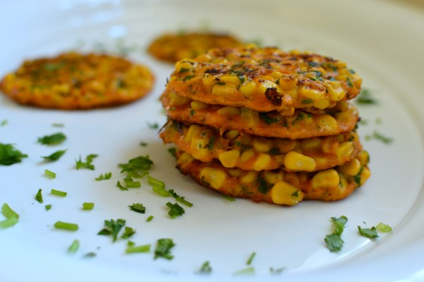 Smoked Paprika Corn Fritters - The Messy Baker by Charmian Christie