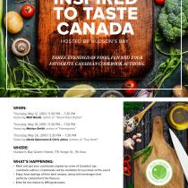 Inspired to Taste Canada 2016