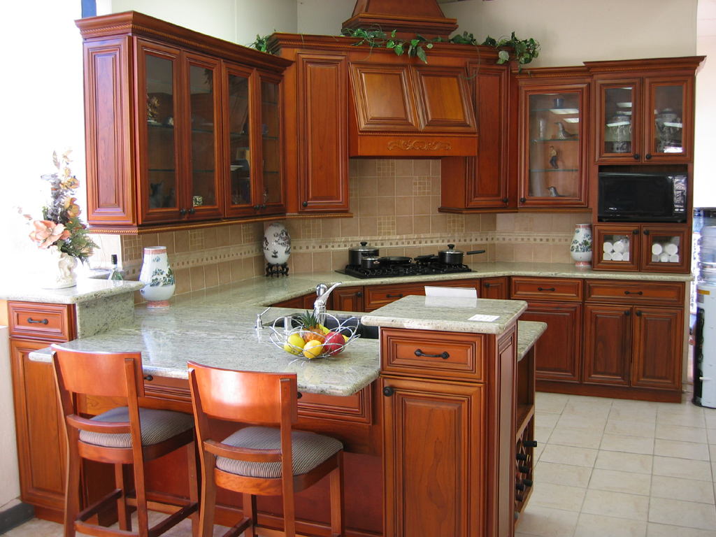 cherry cabinets kitchen cabinets kitchen Pictures Of Kitchens