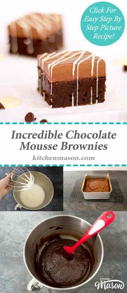 Incredible Chocolate Mousse Brownies | Gooey | Dessert