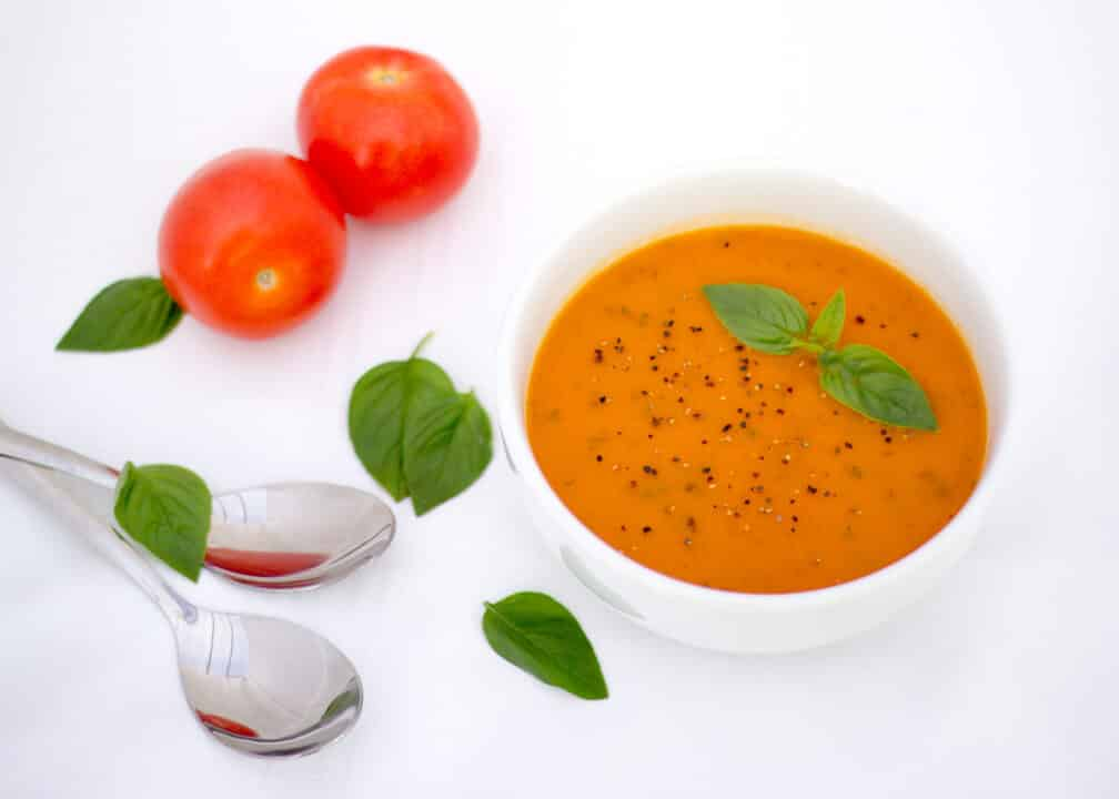 Tomato Soup | Basil | Winter | Healthy | Tomatoes | Vegetable