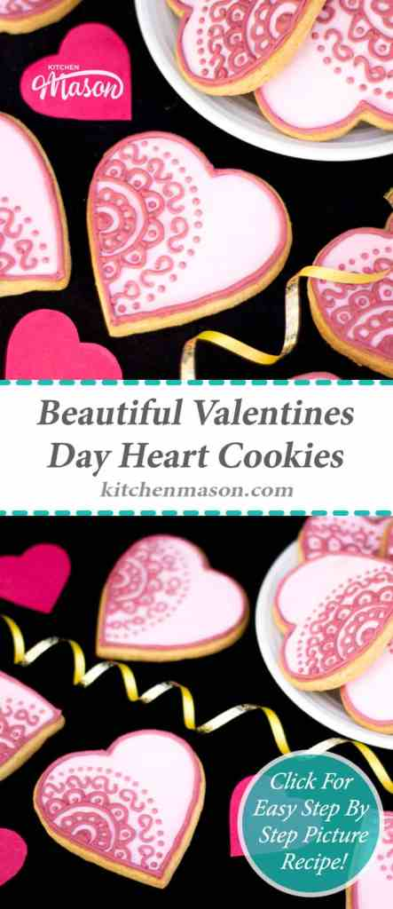 Valentines Day Heart Cookies | Vanilla | Iced Biscuits | Beautiful
