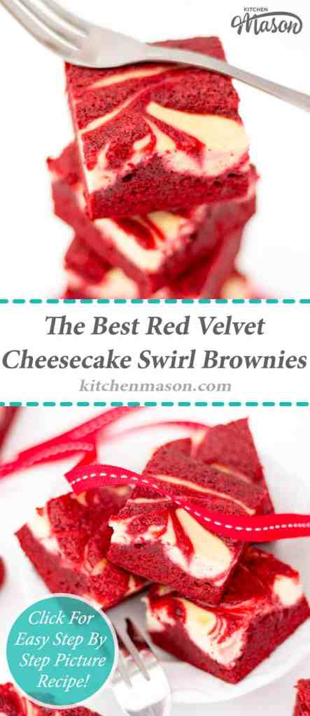 Red Velvet Cheesecake Swirl Brownies | Valentines Day | The Best