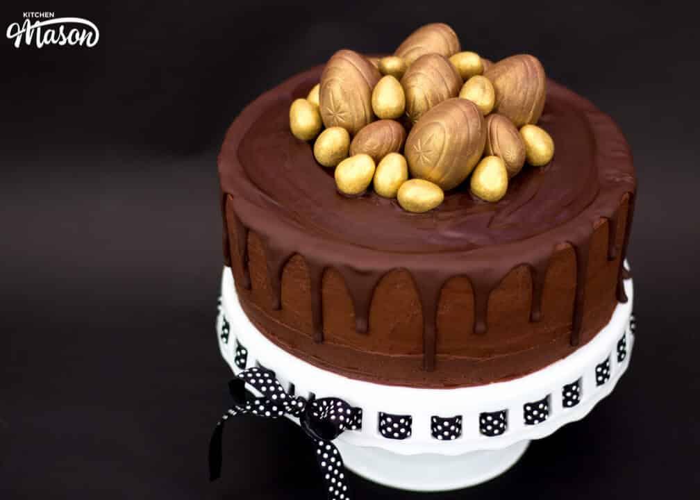 Golden Egg Drip Cake   Easter   Chocolate Cake   Creme Egg   Best