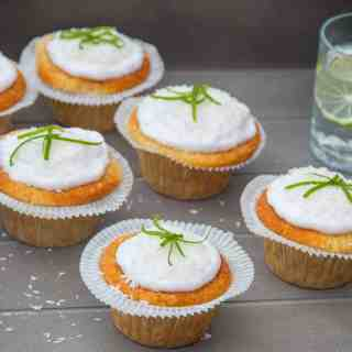 Gluten Free Coconut Lime Cupcakes