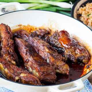 Sticky, Slow-Cooked Pork Ribs