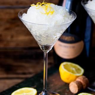Prosecco Lemon Ginger Granita
