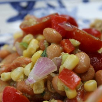 Pintos, avocado and corn salad