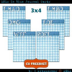 LOLs In Blue Journal Card CU Freebie