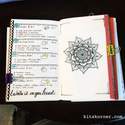 InstaDiary : Aug 5 – Aug 9 Daily-Weekly Spread in my Mandala Journal (BuJo)