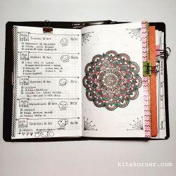 InstaDiary : Aug 14 – Aug 18 Daily-Weekly Spread in my Mandala Journal beyond100mandalas…