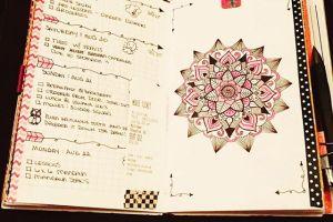 InstaDiary : Aug 18 – Aug 22 Daily-Weekly Spread in my Mandala Journal beyond100mandalas…