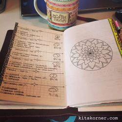 InstaDiary : Sep 12 – Sep 17 Daily-Weekly Spread in my Mandala Journal.. Plain Jane..