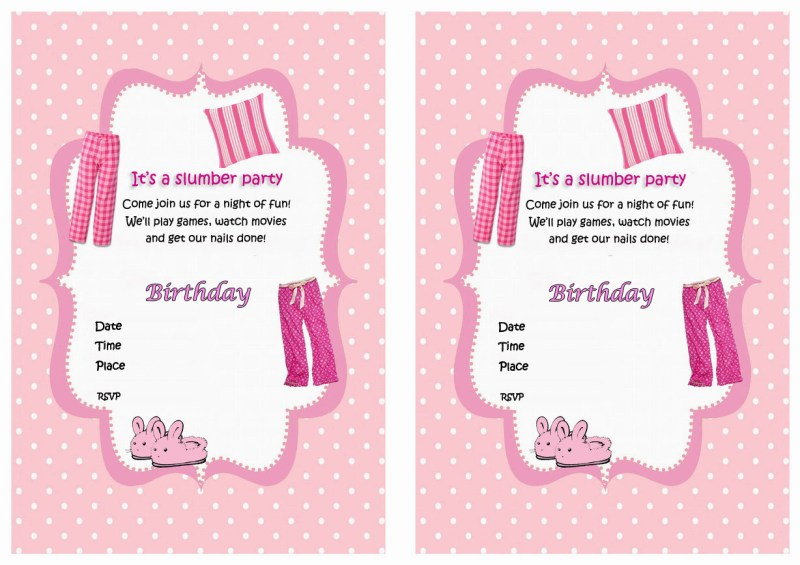 Large Of Slumber Party Invitations