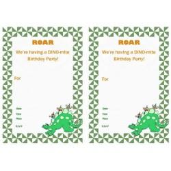 Small Crop Of Dinosaur Birthday Invitations