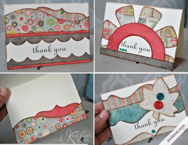 Thank you cards dressed Up