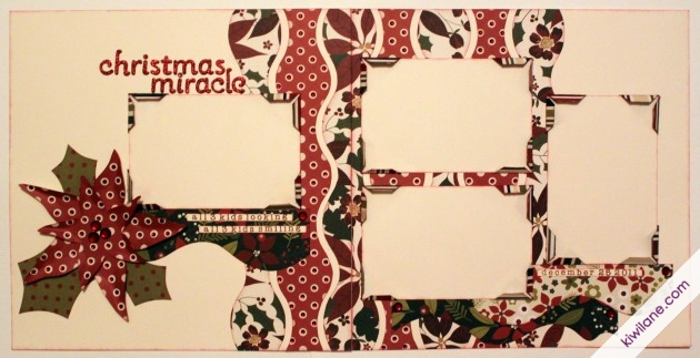 Christmas Miracle 2 page layout