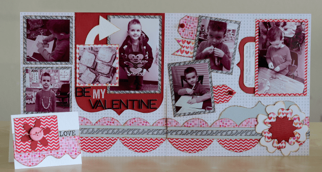 Valentine Layout & Card