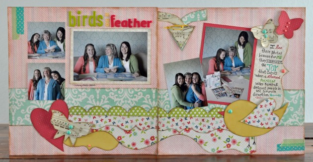 birds of a feather 2-page layout