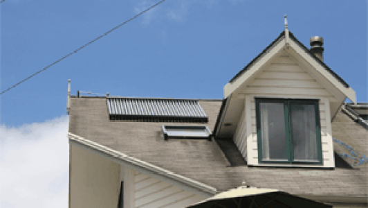 hot water on roof
