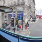 London - frot row seats in a double decker