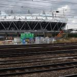 London - the olympic stadium buing built