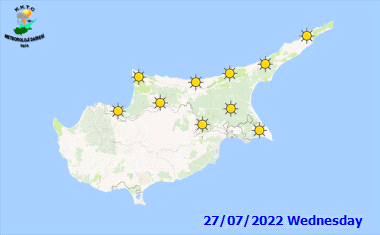 Das Wetter in Zypern - 7 Tage