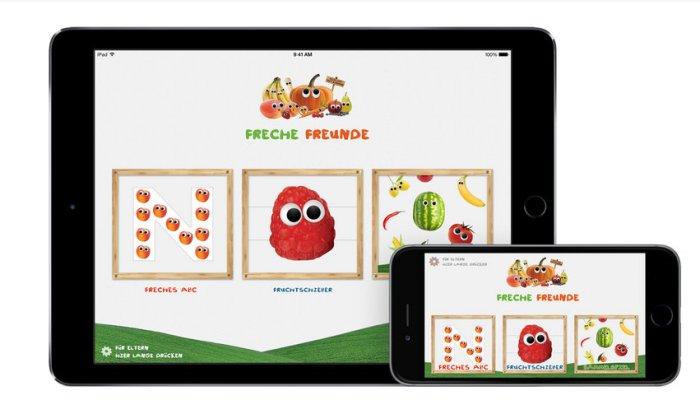 Freche Spiele-App für Kinder