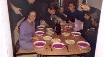 """Paskutinės vakarienės sriuba. Kai kurie vis dar vadina tai """"pink shit""""."""