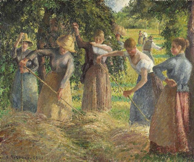 Camille Pissarro, Hay Harvest at Éragny